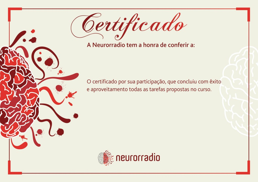 Certificado Neurorradio