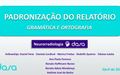 Gramática e ortografia em neurorradiologia